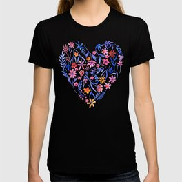 Watercolor Floral Heart Love T-shirt