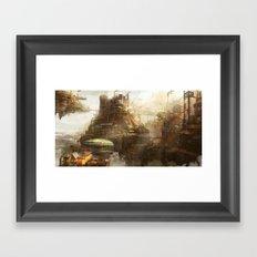 Steampunk city Framed Art Print