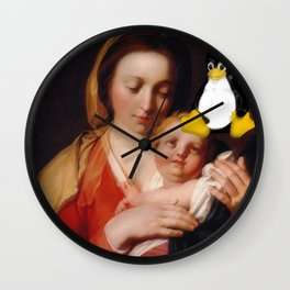 Linux penguin toy master piece Wall Clock