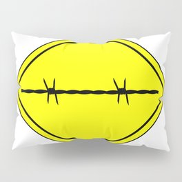 Barbed Wire Warning Sign Pillow Sham