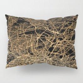 Paris map lights Pillow Sham