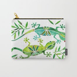 Geckos – Green Palette Carry-All Pouch