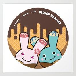 Plump Planet Donut Art Print