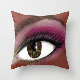 A K A Eye of the Beholder Throw Pillow
