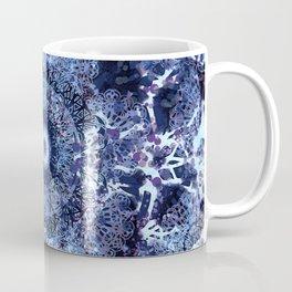 Iris Mandala Blue Coffee Mug