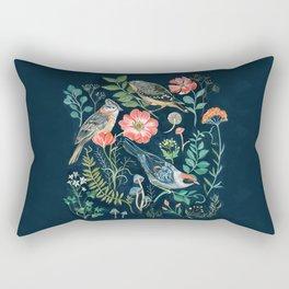 Birds Garden Rectangular Pillow
