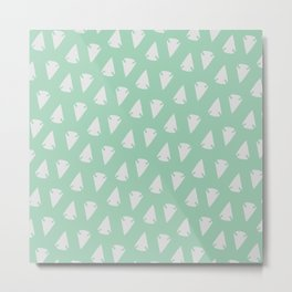 Arrow heads - Mint Green / Hemlock Metal Print