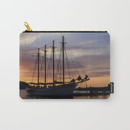 Schooner at sun rise Carry-All Pouch