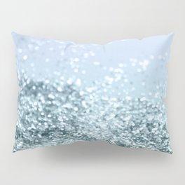 Light Seafoam Light Blue Glitter #1 #shiny #decor #art #society6 Pillow Sham