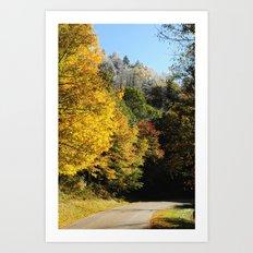 Down this road Art Print
