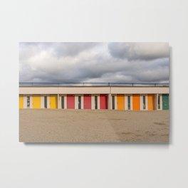 Beach cabin Metal Print