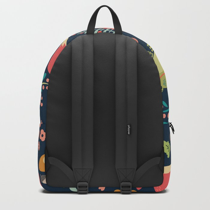 Forest friends - navy Backpack