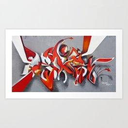 Overline 11 Art Print