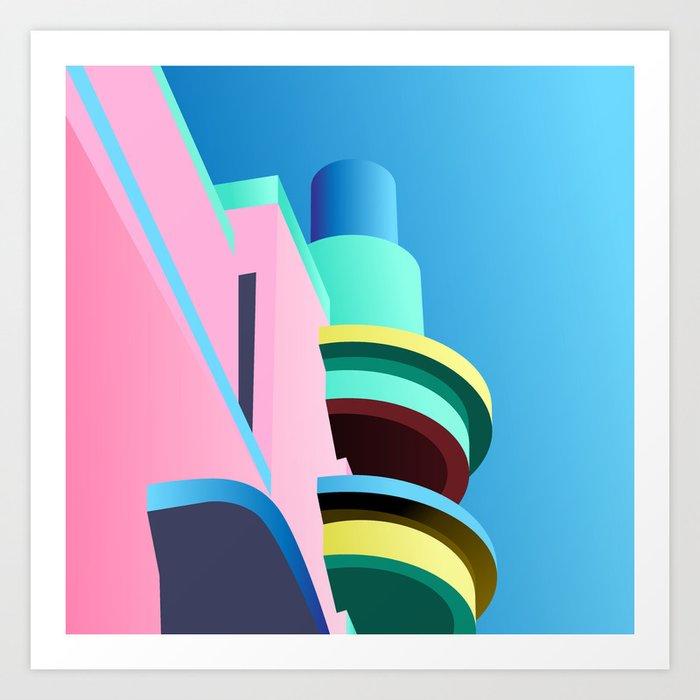 Pastel Paradise #001 Art Print