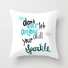 Unique Sparkle Throw Pillow