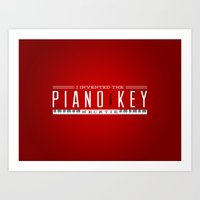 Piano Key Neck Tie Art Print