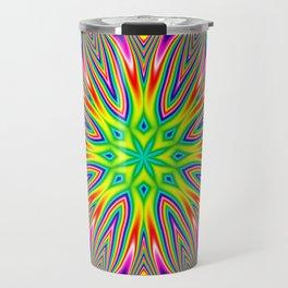 Psychedelic Rainbow Kaleidoscope Travel Mug