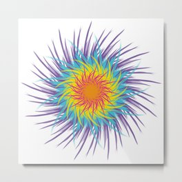 Nonbinary Flower Metal Print