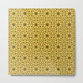 Primrose Yellow Lace Metal Print