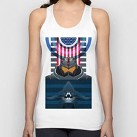 pacific rim Tank Tops featuring Pacific Rim, Jaws edition by milanova