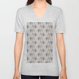 Aardvark Pattern Unisex V-Neck