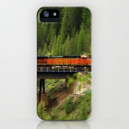BNSF Going Over Goat Lick Creek iPhone Case