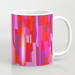 Hot Red Modern Mosaic Pattern Coffee Mug