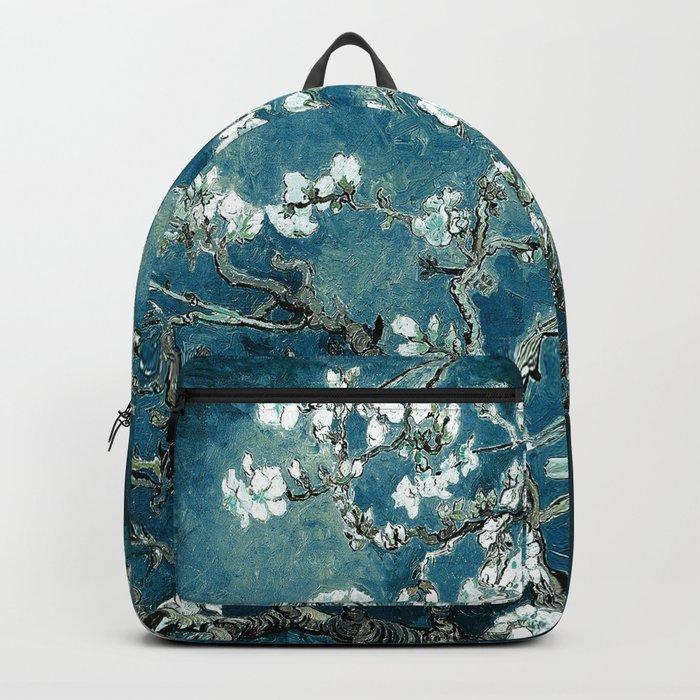 Van Gogh Almond Blossoms : Dark Teal Backpack