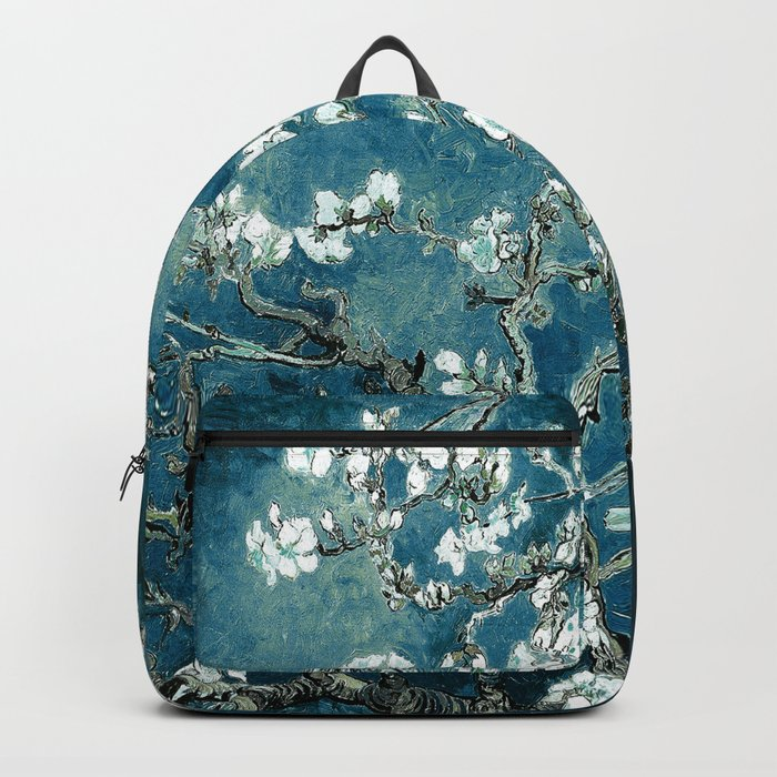 Van Gogh Almond Blossoms : Dark Teal Rucksack