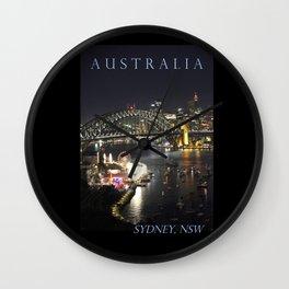 Sydney Night Lights Wall Clock