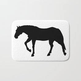 Stocky Warmblood Silhouette Bath Mat