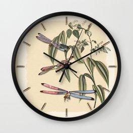 Dragonflies (A Study) Wall Clock