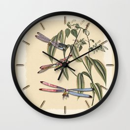 Dragonflies (A Study) Wall Clock