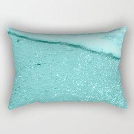 Sparkling Aqua Beach Rectangular Pillow