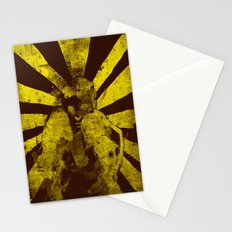 distressed  boxer Stationery Cards