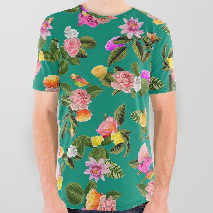Frida Floral All Over Graphic Tee