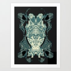 Cat-at-a-fish of the stomach's cove Art Print