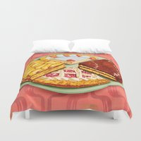 macaroons Duvet Covers featuring To each his own by Chicca Besso