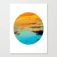 swim Canvas Prints featuring Swim by Rick Staggs