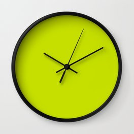 Solid neon green Wall Clock