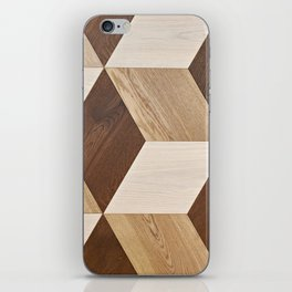 Wooden wall panel iPhone Skin