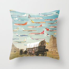 Over There Yonder Throw Pillow