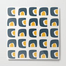 Vintage geometric pattern Metal Print