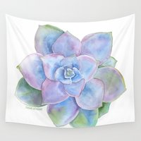 succulent Wall Tapestries featuring Succulent by Susan Windsor