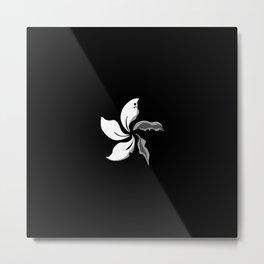 Black Bauhinia Wilted Petals Flag Hong Kong Metal Print