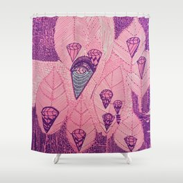 Candy Diamond Leaf Shower Curtain
