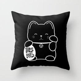 Stay Lucky BLK Throw Pillow