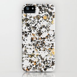 Gold Speckled Terrazzo iPhone Case
