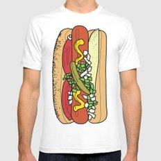 HOT DOG Mens Fitted Tee White X-LARGE