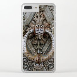 the door keeper Clear iPhone Case